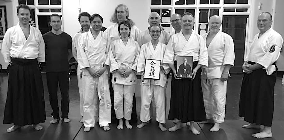 Sankaku Aikido members after their first practice on opening night