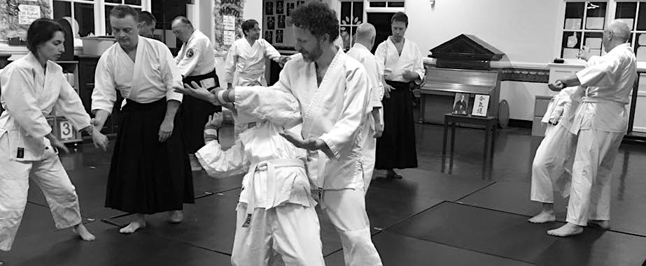 Aikido balance taking exercise