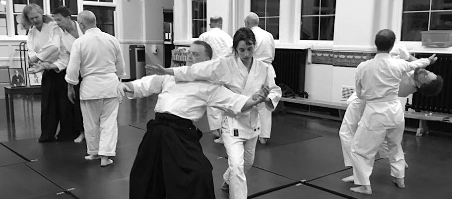Partner exercises used at the start of Aikido class